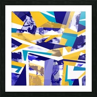 yellowblue Picture Frame print
