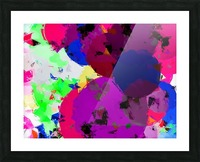 geometric circle pattern abstract in pink blue green Picture Frame print