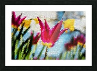 Tulip Mosaic Picture Frame print