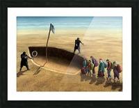 Last emigration by Krzysztof Grzondziel Picture Frame print