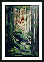 My Therapy retro Mountain biking art  Picture Frame print