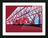 Vintage auto racer Impression et Cadre photo