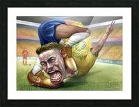 Neymar by Krzysztof Grzondziel Picture Frame print