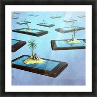 Islands Picture Frame print