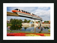 EPCOT Monorail Picture Frame print