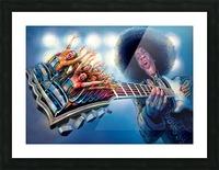 Jimi Hendrix by Krzysztof Grzondziel Picture Frame print