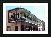 New Orleans Balcony Picture Frame print