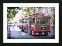 Vancouver Trolly Picture Frame print