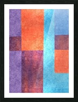 Abstract Geometric Space 3 Picture Frame print