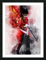 The Queens Guard Picture Frame print