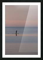 Evening paddleboarder Impression et Cadre photo