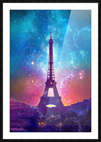 Eiffel Tower - Milky Way Collage Picture Frame print