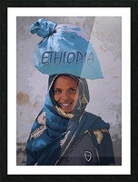 Ethiopian women Picture Frame print
