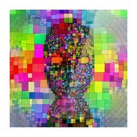 Mysterious Colorful Mask Picture Frame print