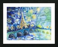 PARIS COLORS OF LOVE Picture Frame print