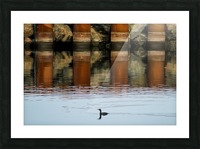The breakwater Picture Frame print