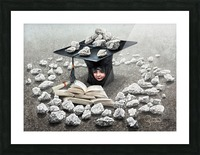 Girls education by Krzysztof Grzondziel Picture Frame print