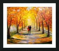 A walk in sunny weather Picture Frame print