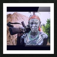 Afar Warrior Picture Frame print