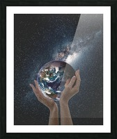 Mother Natures Hands Picture Frame print