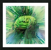 Electronic Brain Picture Frame print