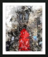 Red Door Edinburgh Picture Frame print