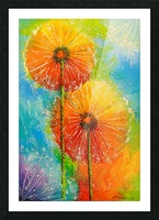 Dandelions Picture Frame print