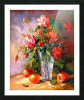A bouquet of roses Picture Frame print