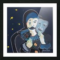 Arlequin a rose noir Impression et Cadre photo