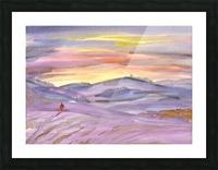 Sunset ski trip Picture Frame print