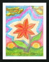 Magic scarlet flower  Picture Frame print