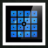 Elora de sous - squares of sea Picture Frame print