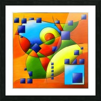 Fantisimella - colourful birdy abstract Picture Frame print