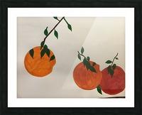 Orange You in Love Picture Frame print