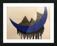 Mountains on the Moon Picture Frame print