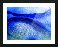 Blue Lips Picture Frame print