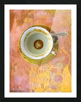 Coffee with Klimt Picture Frame print