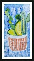 Bluebonnet cactus. Molly H Picture Frame print