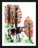 Fall Longhorn. Stephen R Picture Frame print