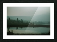 Lac brumeux Impression et Cadre photo