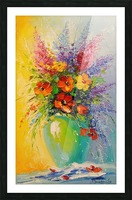 A bouquet of meadow flowers Picture Frame print