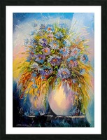 A bouquet of blue flowers Picture Frame print