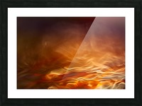 Burning water Picture Frame print