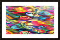 Abstract Colorful Waves Picture Frame print