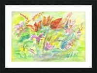 Flowers in the sunny meadow Picture Frame print