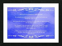 Psalm 23 3BL Picture Frame print