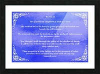 Psalm 23 5BL_1547777682.49 Picture Frame print