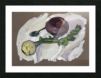 Still Life with Celery Picture Frame print