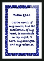 Psalm 19 14 10WBL Picture Frame print