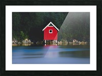 The red house Picture Frame print